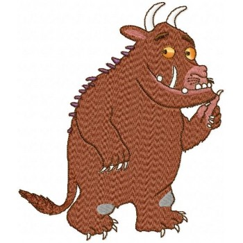 Gruffalo machine embroidery design for instant download