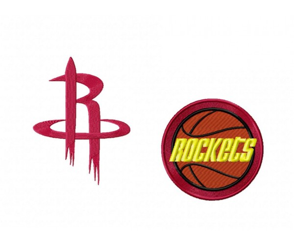 Rockets Logo Machine Embroidery Design For Instant Download
