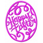 Happy easter egg machine embroidery design for instant download