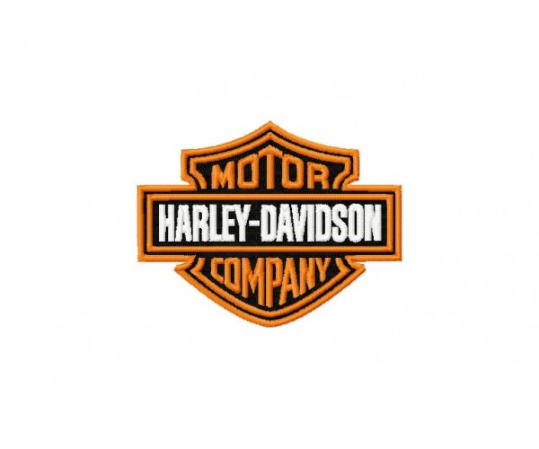 Harley davidson logo machine embroidery design for instant