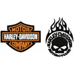 Harley-Davidson logo machine embroidery design for instant download