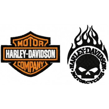 Harley-Davidson logo machine embroidery design for instant download