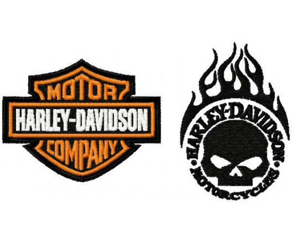 Harley Davidson Logo Machine Embroidery Design For Instant Download