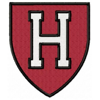Harvard Crimson logo machine embroidery design for instant download