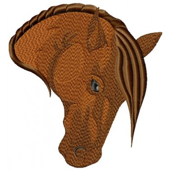 Horse head machine embroidery design in 3 sizes for instant download
