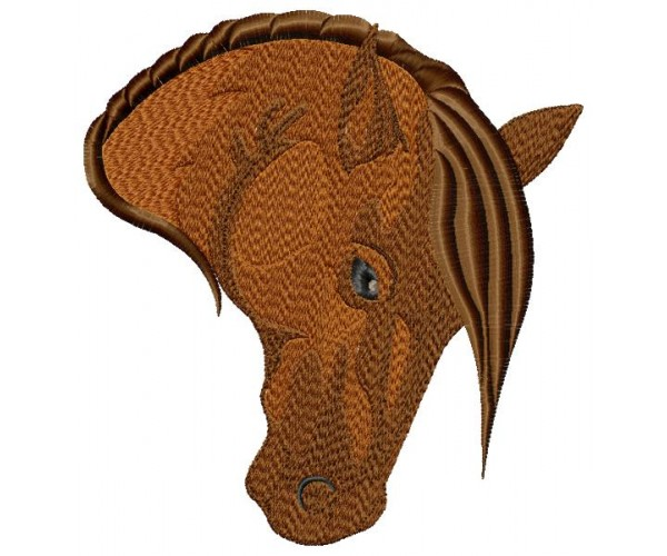Horse Head Machine Embroidery Design In 3 Sizes For