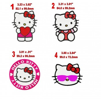 Hello Kitty machine embroidery designs for instant download