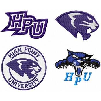High Point Panthers 4 logos machine embroidery design for instant download