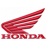 Honda motorcycle logo machine embroidery design for instant download