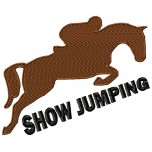 Horses Show Jumping machine embroydery design for instant download
