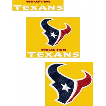 Houston Texans 3 logos machine embroidery design for instant download
