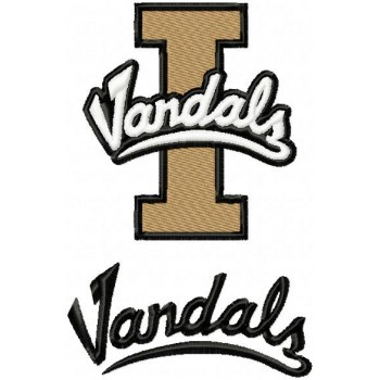 Idaho Vandals logo machine embroidery design for instant download