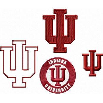 Indiana Hoosiers logo machine embroidery design for instant download