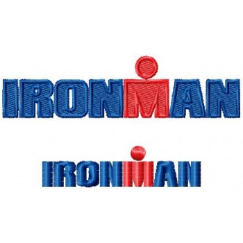 Ironman logo machine embroidery design for instant download