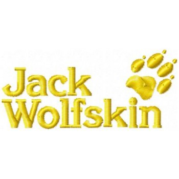 Jack Wolfskin logo machine embroidery design for instant download