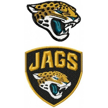 Jacksonville Jaguars logo machine embroidery design for instant download