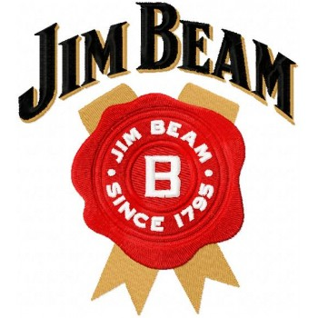 Jim Beam logo machine embroidery design for instant download