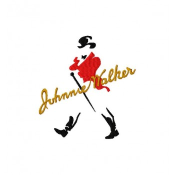 Johnnie Walker Logo machine embroidery design for instant download