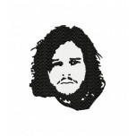 Jon Snow machine embroidery design for instant download