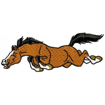 Jumping horse machine embroidery design for instant download