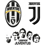 Juventus FC logos + Legends machine embroidery design for instant download
