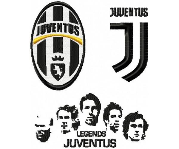 juventus fc logos legends machine embroidery design for instant download juventus fc logos legends machine