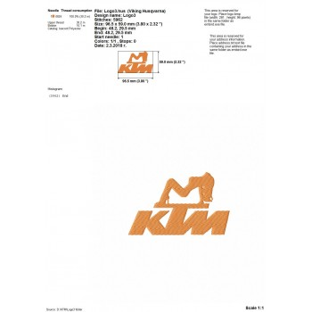 KTM logos machine embroidery design for instant download