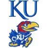 Kansas Jayhawk logo machine embroidery design for instant download