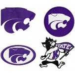 Kansas State Wildcats logo machine embroidery design for instant download