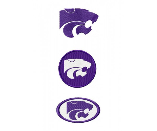 kansas state wildcats logo machine embroidery design for instant download. Black Bedroom Furniture Sets. Home Design Ideas