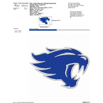 Kentucky Wildcats logo machine embroidery design for instant download