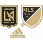 Los Angeles Football Club logo machine embroidery design for instant download