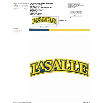 LaSalle Explorers logo machine embroidery design for instant download