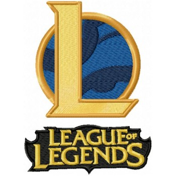 League of Legends logos machine embroidery design for instant download
