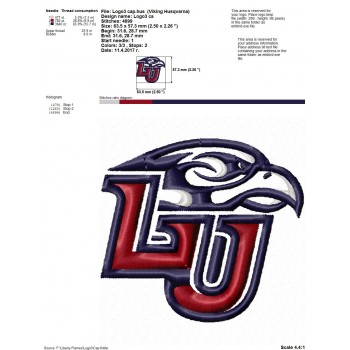 Liberty Flames logo machine embroidery design for instant download