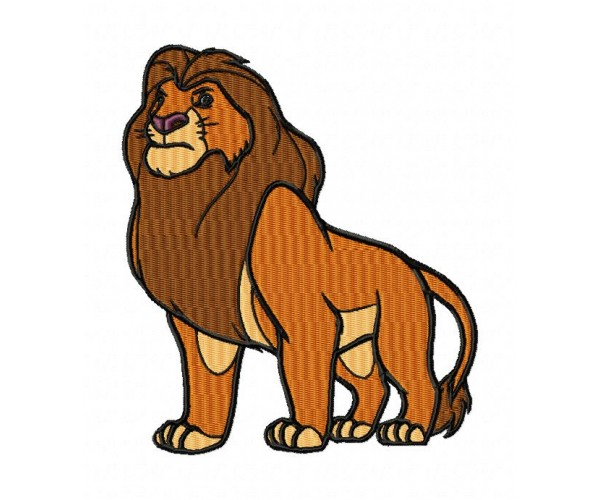 Lion King Simba Machine Embroidery Design For Instant Download
