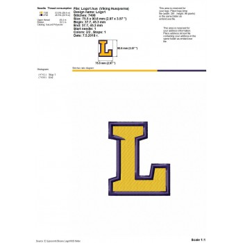Lipscomb Bisons logos machine embroidery design for instant download