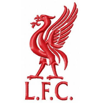 Liverpool FC logo machine embroidery design for instant download