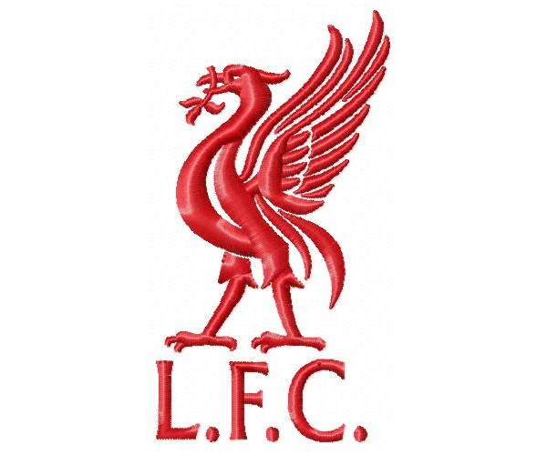Liverpool FC logo machine embroidery design for instant ...