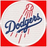 Los Angeles Dodgers logo machine embroidery design for instant download