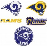Los Angeles Rams logos machine embroidery design for instant download