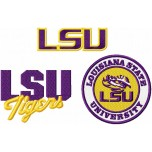 Louisiana State University Tigers logo machine embroidery design for instant download