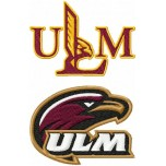 Louisiana-Monroe Warhawks logo machine embroidery design for instant download