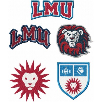 Loyola Marymount Lions logo machine embroidery design for instant download