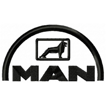 MAN logo machine embroidery design for instant download