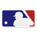 Major League Baseball logo machine embroidery design for instant download