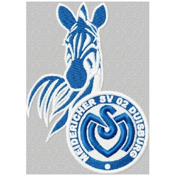 MSV Duisburg logo machine embroidery design for instant download