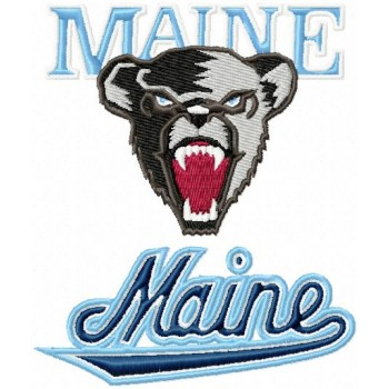 Maine Black Bears logos machine embroidery design for instant download