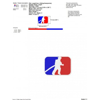 Major league funny logos machine embroidery design for instant download