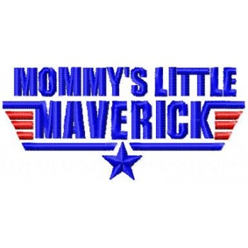 Mommys little Maverick machine embroidery design